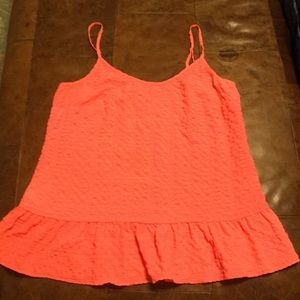 Lily Pulitzer orange peplum top